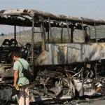 Пожар в автобус, няма пострадали