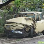 Пиян шофьор на камион катастрофира, подгонен от полицаи