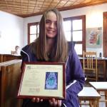 Анастасия Вукова с награда от Япония
