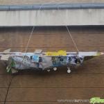 """Деца сътвориха """"художествена инсталация"""" на ракета при Военния клуб"""