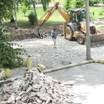 Започнаха ремонтните дейности в центъра