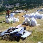 Събраха в Рила 8 тона боклук