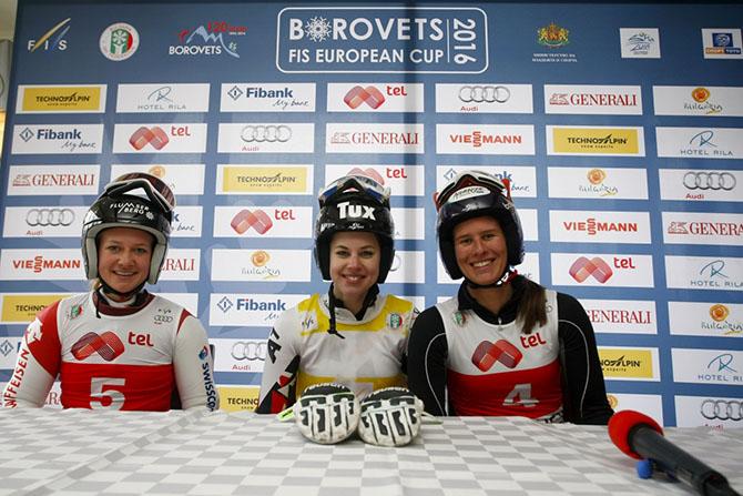 Мария Киркова финишира 34-а в гигантския слалом от състезанията за Европейската купа по ски алпийски дисциплини за жени в Боровец на 12 февруари. Киркова постигна общо време от двата манша […]