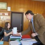 Кметът поздрави Радостина Тодорова за успеха в конкурса на National Geographic