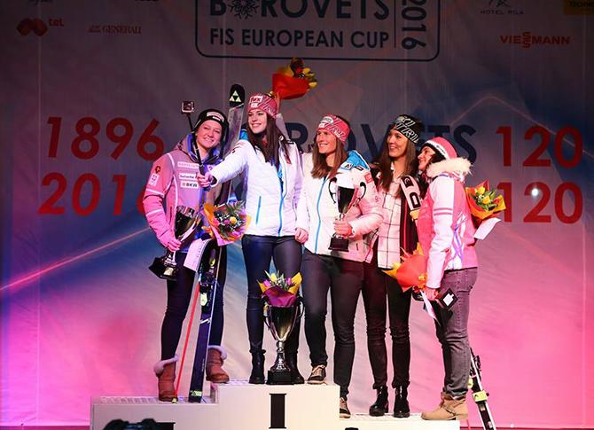 """Щефани Брунер спечели първия старт от състезанията за Европейската купа, състояли се в Боровец на 12 и 13 февруари. На писта """"Попангелов"""" /Ястребец 2""""/ известната австрийка бе най-бърза, а с […]"""
