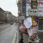Листовки и лепенки загрозяват и замърсяват градската среда