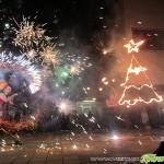 Коледната елха грейна със светлинно и огнено шоу