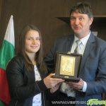 Кметът Владимир Георгиев поздрави еврошампионката Биляна Дудова