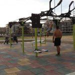 Нова фитнес площадка в двора на Спортното училище
