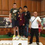 Боксьорите Мартин Стоянов, Наско Дамянов и Иван Асенов с бронзови медали от държавното