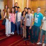 """Ученици от ПТГ """"Никола Вапцаров"""" гостуваха в парламента"""