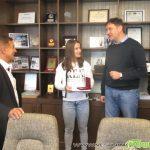 Кметът Владимир Георгиев прие световната вицешампионка Биляна Дудова