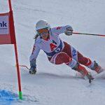 Скиорките Ева Вукадинова, Симона Скробанска и Никол Николова с първо, второ и трето място