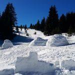 """Ентусиасти-планинари строиха иглута над хижа """"Чакър войвода"""""""