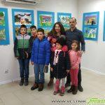 """Малките художници от школа """"Наум Хаджимладенов"""" откриха изложба в Сапарева баня"""