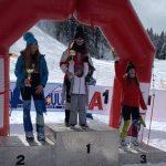Скиорката Кристина Георгиева с бронзов медал от супер гигантския слалом на държавното