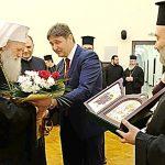 Кметът и архиерейският наместник на прием при патриарх Неофит